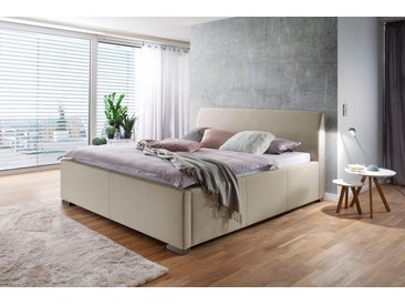 Places Of Style Polsterbett »La Finca«, mit Bettkasten, beige