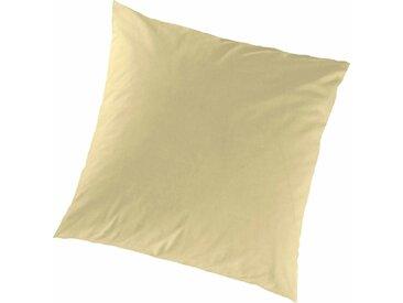 Primera Kissenbezug »Feinjersey«, 2x 40x40 cm, trocknergeeignet, aus 100% Baumwolle, gelb