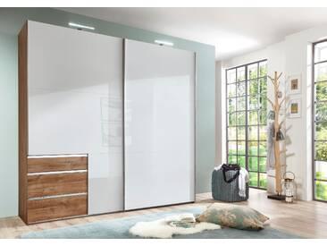 Bruno Banani Schwebetüren-Schrank, pflegeleichte Kunststoffoberfläche, Breite 200 cm, weiß