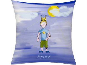 Emotion Textiles Kissenhülle »Prinz Tag«, blau