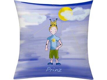 Emotion Textiles Kissenhülle »Prinz Tag«, 50x50 cm, blau
