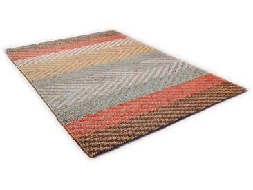 Tom Tailor Teppich »Pastel Stripe«, 160x230 cm, 7 mm Gesamthöhe, bunt