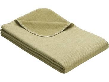 Ibena Wohndecke »Lausanne«, 140x200 cm, grün, aus 100% Baumwolle