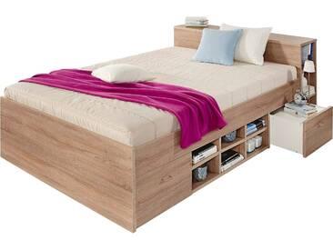Breckle Bett, beige, 160/200 cm, Härtegrad 2