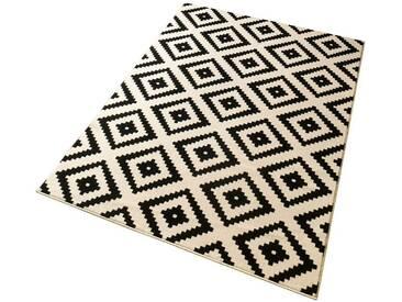 Hanse Home Teppich »Raute«, 80x150 cm, 9 mm Gesamthöhe, schwarz