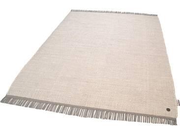 Tom Tailor Teppich »Cotton Colors«, 80x150 cm, beidseitig verwendbar, 8 mm Gesamthöhe, weiß