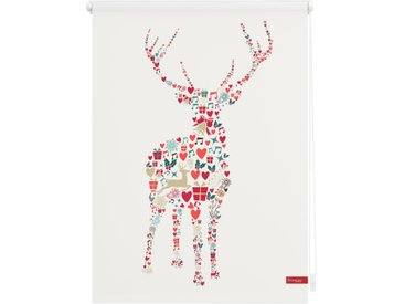 Lichtbick Seitenzugrollo »Klemmfix Motiv Rentier Weihnachten«, H/B 150/60 cm, bunt