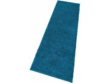 My Home Hochflorteppich »Bodrum«, 67x230 cm, 30 mm Gesamthöhe, blau