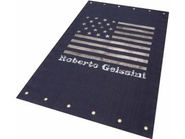 Roberto Geissini Teppich »Denim Star«, (L/B 230/160 cm), schmutzabweisend, 10 mm Gesamthöhe, blau