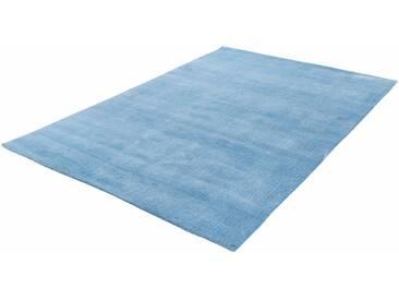 Tom Tailor Teppich »Powder uni«, 65x135 cm, 12 mm Gesamthöhe, blau