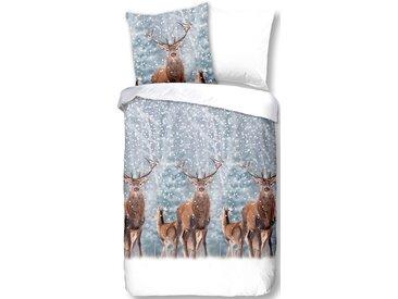 Good Morning Wendebettwäsche »Deer«, 135x200 cm, weiß, aus 100% Baumwolle