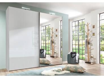 Bruno Banani Schwebetüren-Schrank, pflegeleichte Kunststoffoberfläche, Breite 250 cm, weiß