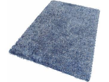 Theko® Hochflor-Teppich »Girly«, 65x135 cm, blau