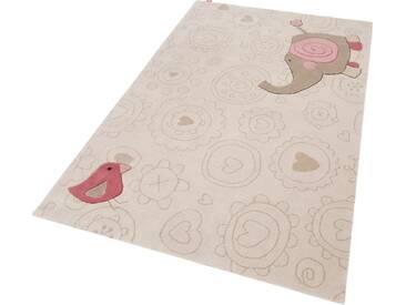 Sigikid Kinderteppich »Happy Zoo Elephant«, 120x180 cm, 10 mm Gesamthöhe, beige