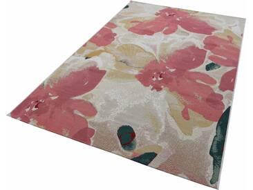 Tom Tailor Teppich »Garden Blossom«, 123x180 cm, 30 mm Gesamthöhe, rosa
