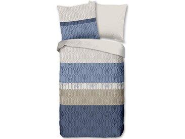 Good Morning Wendebettwäsche »Valence«, 155x220 cm, blau, aus 100% Baumwolle