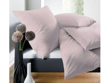 Schlafgut Bettwäsche »Leni«, 135x200 cm, Hpflegeleicht, rosa, aus 100% Baumwolle