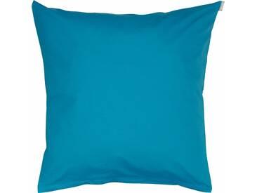 Bassetti Kissenhülle »Tinta Uni«, 80x80, aus 100% Baumwolle, blau