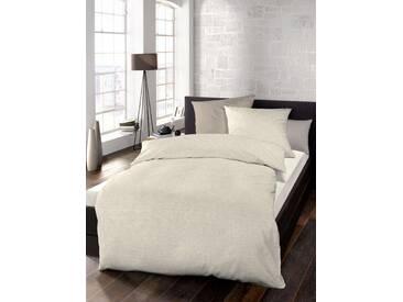 Schlafgut Bettwäsche »Select«, 155x220 cm, waschbar, beige, aus 100% Baumwolle