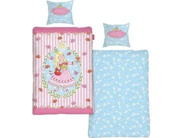 Kinderbettwäsche »Prinzessin Anneli Flower«, 80x80 cm, Schlafwelt, aus reiner Baumwolle, rosa, trocknergeeignete & maschinenwaschbare Qualität