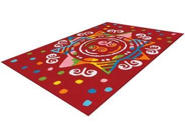 Arte Espina Kinderteppich »Spirit 3145«, 110x160 cm, 17 mm Gesamthöhe, rot