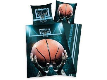 Herding Young Collection Jugendbettwäsche  »Basketball«, 80x80 cm, waschbar, bunt, aus reiner Baumwolle