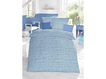 Schlafgut Bettwäsche »Cotton«, 155x220 cm, Hpflegeleicht, blau, aus 100% Baumwolle