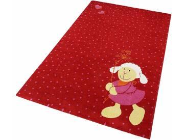 Sigikid Teppich für Kinder »Schnuggi«, 133x200 cm, 13 mm Gesamthöhe, rot
