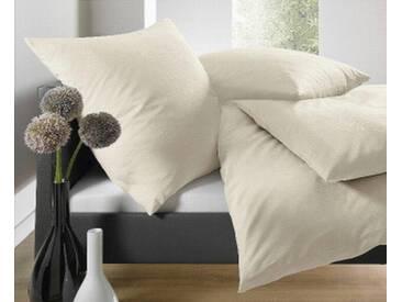 Schlafgut Bettwäsche »Leni«, 155x220 cm, Hpflegeleicht, beige, aus 100% Baumwolle