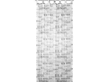 Elbersdrucke Gardine »City«, H/B 245/140 cm, schwarz, transparenter Stoff