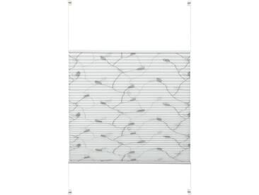Gardinia Plissee »EASYFIX Plissee Dekor mit 2 Bedienschienen«, H/B 130/90 cm, einfache Montage ohne Bohren, weiß