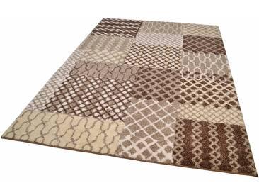 Tom Tailor Teppich »PATTERN PATCH«, 200x285 cm, 12 mm Gesamthöhe, beige