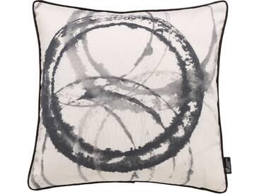 Emotion Textiles Kissenhülle »Aquarellkreise«, schwarz