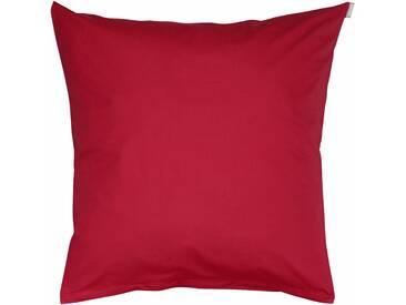 Bassetti Kissenhülle »Tinta Uni«, 80x80, aus 100% Baumwolle, rot