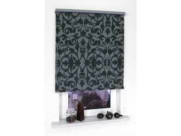 Liedeco Seitenzugrollo »Dekor Ornament«, H/B 180/62 cm, grau