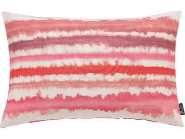 Emotion Textiles Kissenbezug »Aquarellstreifen«, rot