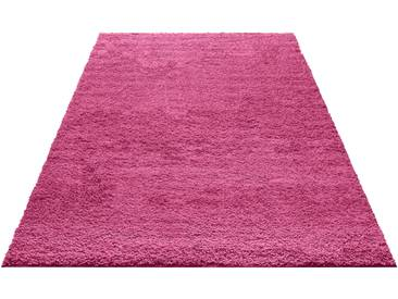 My Home Hochflor-Teppich »Bodrum«, 200x200 cm, 30 mm Gesamthöhe, rosa