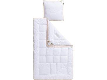 My Home Selection Baumwollbettdecke + Kopfkissen »Selection Kronenqualität«, Bezug aus reiner Baumwolle, weiß