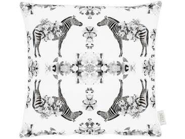 Tom Tailor Kissenhüllen »Zebra«, schwarz