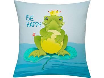 Emotion Textiles Kissenbezug »Frog«, grün