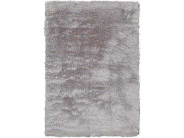 Home Affaire Fellteppich »Dena«, 90x150 cm, 60 mm Gesamthöhe, silber
