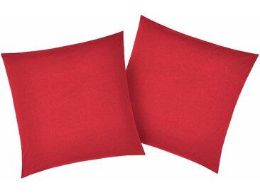 My Home Kissenbezüge###Kissenbezug »Luisa«, 2x 40x40 cm, rot