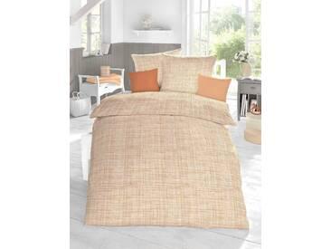 Schlafgut Bettwäsche »Cotton«, 155x220 cm, Hpflegeleicht, orange, aus 100% Baumwolle