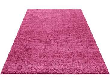 My Home Hochflorteppich »Bodrum«, 120x180 cm, 30 mm Gesamthöhe, rosa