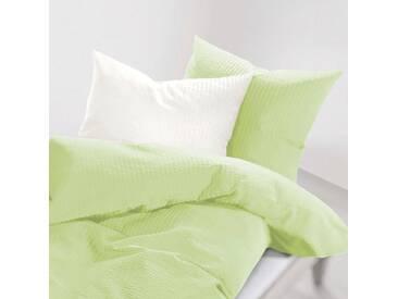 Schlafgut Bettwäsche »Lenny«, 155x220 cm, Hpflegeleicht, grün, aus 100% Baumwolle