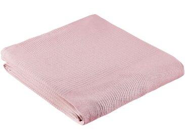 My Home Tagesdecke »Mira«, 250x250 cm, aus 100% Baumwolle, rosa