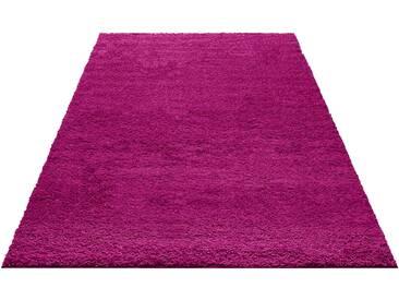 My Home Hochflor-Teppich »Bodrum«, 70x140 cm, 30 mm Gesamthöhe, lila