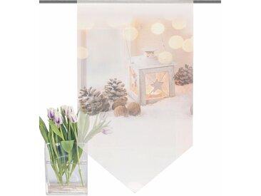 Home Wohnideen Scheibengardine »LATERNE«, beige, transparenter Stoff