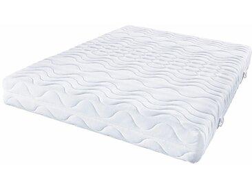 Beco Komfortschaummatratze »Frottee Deluxe«, 1x 160x200 cm, punktelastisch, formstabil, atmungsaktiv, weiß, 101-120 kg