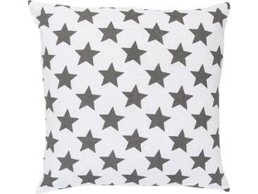 Elbersdrucke Dekokissen »STARS ALLOVER«, reine Baumwolle, weiß